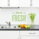Farm Fresh Wall Quote Decal