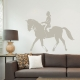 Horse and Rider Warm Grey Wall Decal