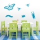 Insects Set One Teal Wall Decal