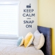 Keep Calm and Snap On Dark Blue Wall Decal