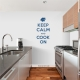 Keep Calm and Cook On Blue Wall Decal