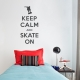 Keep Calm and Quilt On wall decal