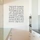 Kitchen Verbs Wall Quote Decal
