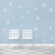 Snowflakes White Wall Decal