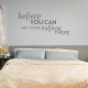 Believe You Can Dark Grey Wall Quote Decal