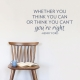 Can or Can't Dark Blue Wall Quote Decal