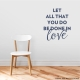 Done in Love Dark Blue Wall Quote Decal
