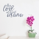 Love at First Asana Wall Quote Decal