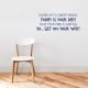 Get On Your Way Dark Blue Wall Decal