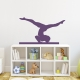 Gymnast on Balance Beam Wall Decal