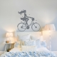 Lady on a Vintage Bike Wall Decal