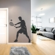 Male Tennis Player Wall Decal
