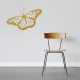 Monarch Butterfly Gold Wall Decal