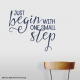 One Small Step Dark Blue Wall Quote Decal