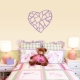 Stained Glass Heart Wall Decal