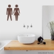 Bathroom Icon Wall Decal Brown
