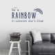 Be a Rainbow Wall Quote Decal \ Wallums Wall Decals