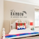Be a Rainbow Wall Quote Decal Gold