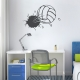 Bursting Volleyball  Wall Decal