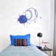 Bursting Baseball Wall Decal