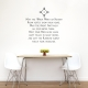 Cherokee Blessing Wall Quote Decal