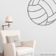 Corner Volleyball Storm Grey Wall Decal