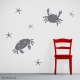 Crab Duo Wall Decal Storm Grey