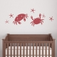 Crab Duo Wall Decal
