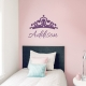 Custom Princess Name Wall Decal Storm Grey