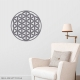 Flower of Life Wall Decal Storm Grey