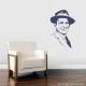 Frank Sinatra Wall Decal Dark Blue