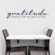 Gratitude Dark Blue Wall Quote Decal \ Wallums Wall Decals