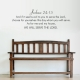Joshua 24:15 Wall Quote Decal \ Wallums Wall Decals