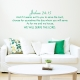 Joshua 24:15 Wall Quote Decal