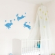 Jumping Rabbits Wall Decal