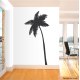 Leaning Palm Tree Wall Art Decal