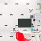 Mini Mustaches Wall Decal