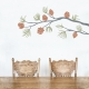 Pine Cone Branch Wall Decal