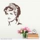 Princess Diana Wall Decal Brown