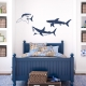 Shark Trio Wall Decal