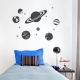 Simple Planets Wall Decal