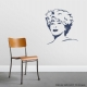 Tina Turner Wall Decal Dark Blue