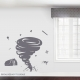 Tornado Wall Decal Storm Grey