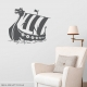 Viking Ship Dark Grey Wall Decal