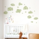 Whimsical Clouds Wall Decal Celadon