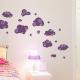 Whimsical Clouds Wall Decal Violet
