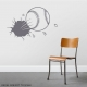 Bursting Baseball Wall Decal Storm Grey