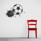 Bursting Soccer Ball Wall Decal Black