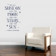 Shine On Wall Quote Decal \ Wallums Wall Decals