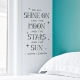 Shine On Wall Quote Decal